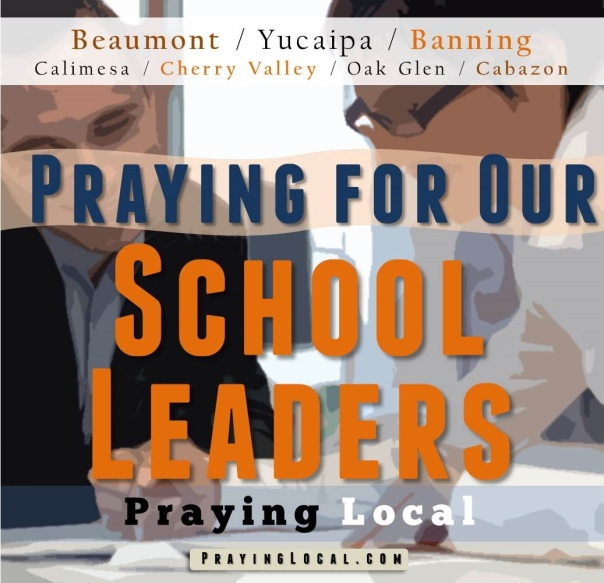 Praying for our School Leaders
